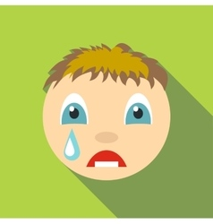 Cry icon flat style vector