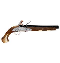 Dueling pistol vector