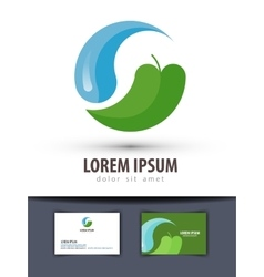 ecology logo design template environment vector image vector image
