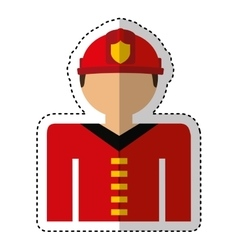 Fireman avatar character icon vector