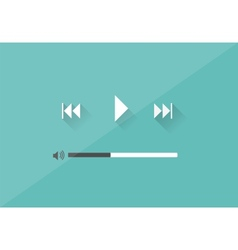Flat player application in stylish colors vector