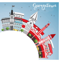 georgetown skyline with gray buildings blue sky vector image vector image
