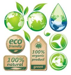 green environmental set vector image vector image