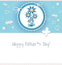 Happy Fathers day background or card vector image