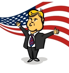 January 10 2017 donald trump thumb up vector