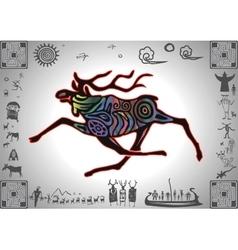 Kokopelli Glow Elk vector image