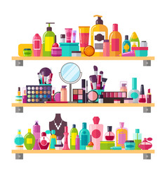 Make up things icons on white vector