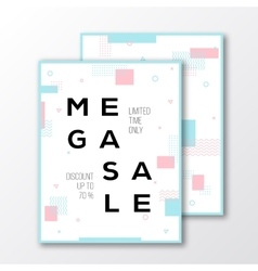 Mega sale season poster card or flyer template vector
