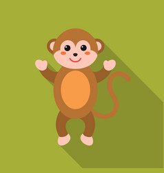 monkey flat icon for web and mobile vector image vector image