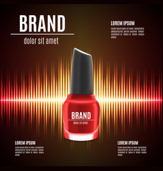 Red nail polish template vector