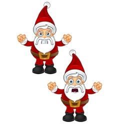 Santa Claus Unhappy vector image vector image