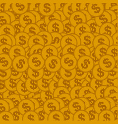 seamless background with golden coins vector image