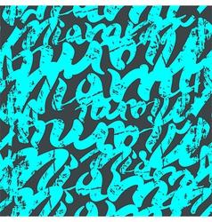 Seamless pattern graffiti miami vector