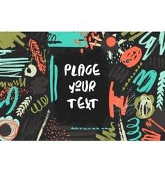 Textured decorative presentation card vector