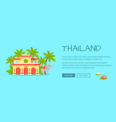 thailand touristic flat style web banner vector image vector image