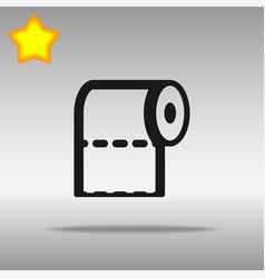Toilet paper black icon button logo symbol vector