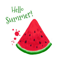 Watermelon card vector