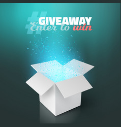 White box giveaway competition template vector