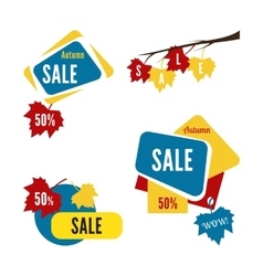 Special offer sale tag discount isolated on white vector