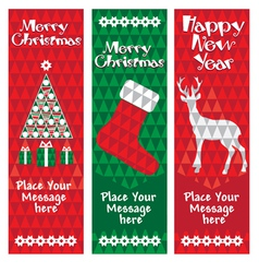 banners christmas vertical vector image