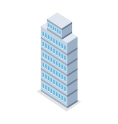 Skyscraper in isometric projection vector