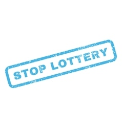 Stop lottery rubber stamp vector