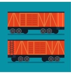 Freight train cargo transportation logistic vector