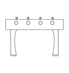 Table football icon in outline style isolated on vector
