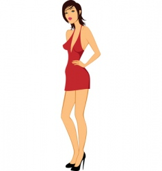 Beauty model woman posing illustration vector