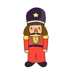 Icon toy soldier vector