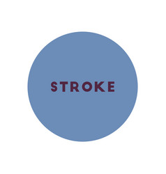 stylish icon in color circle stroke disease vector image
