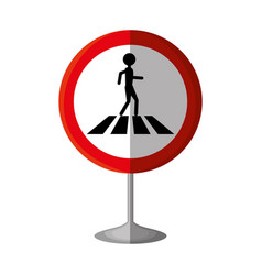 Pedestrians on the road vector