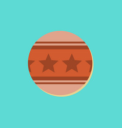 Circus ball in sticker style vector