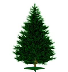 Empty christmas tree vector