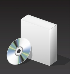 Box for dvd with a disk vector