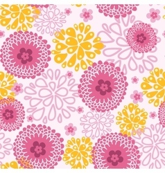 Pink field flowers seamless pattern background vector