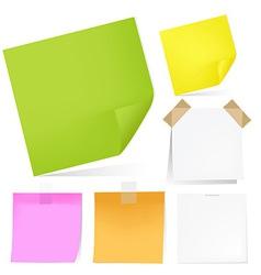 Color Notes Paper Set vector image