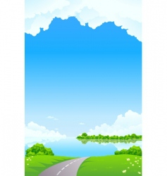 Fresh landscape vector