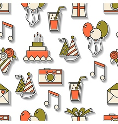 Seamless holiday pattern happy birthday festive vector image