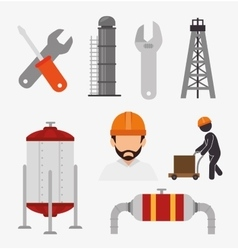 Factory and industry plant equipment vector