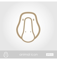 Goose icon vector