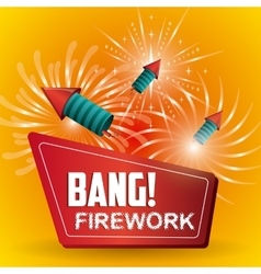 Firework icon design vector image