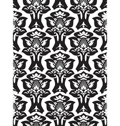 Damask seamless floral pattern black and white vector