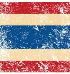 Thailand retro flag vector