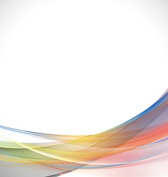 Abstract light lines colorful curve background vector