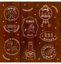Barbeque set vector image