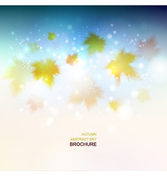 Abstract autumn background design vector