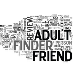 adult friend finder review good or bad text word vector image vector image