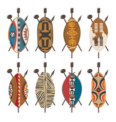 african-shields-01 vector image vector image