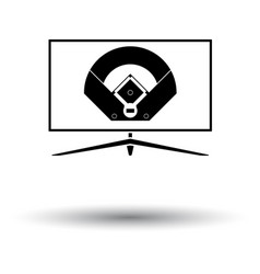 baseball tv translation icon vector image vector image
